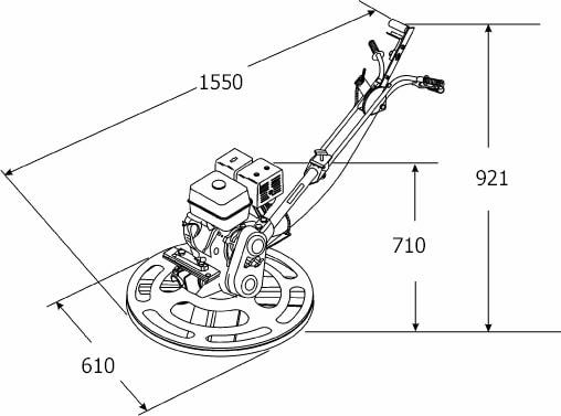 Двигатель Honda GX120T