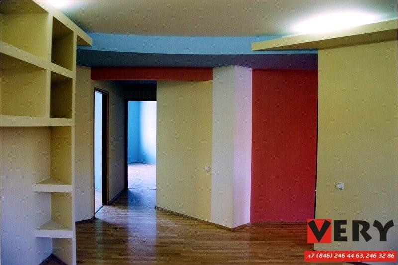 Реализация дизайн-проекта интерьера квартиры. Февраль 2002