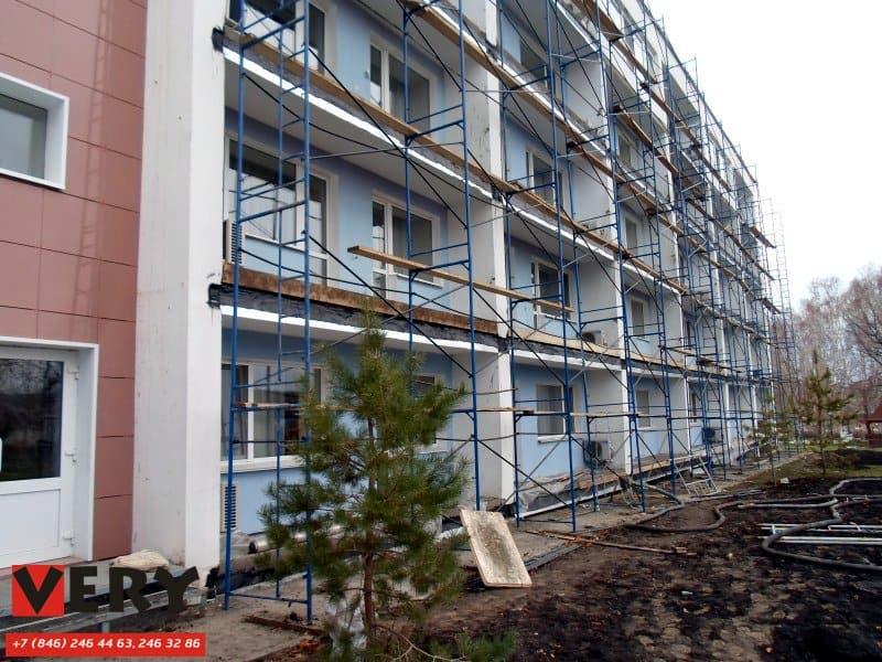 Полусухая стяжка на балконах. Санаторий «Самарский»