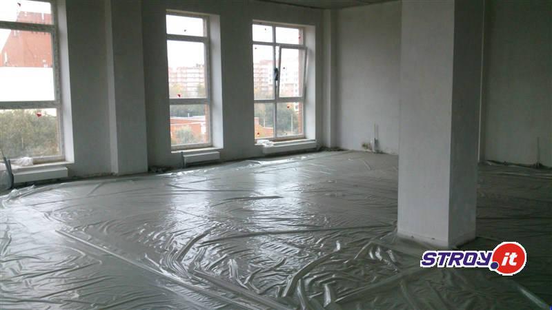 Стяжка в апартаментах Лофт-Хаус