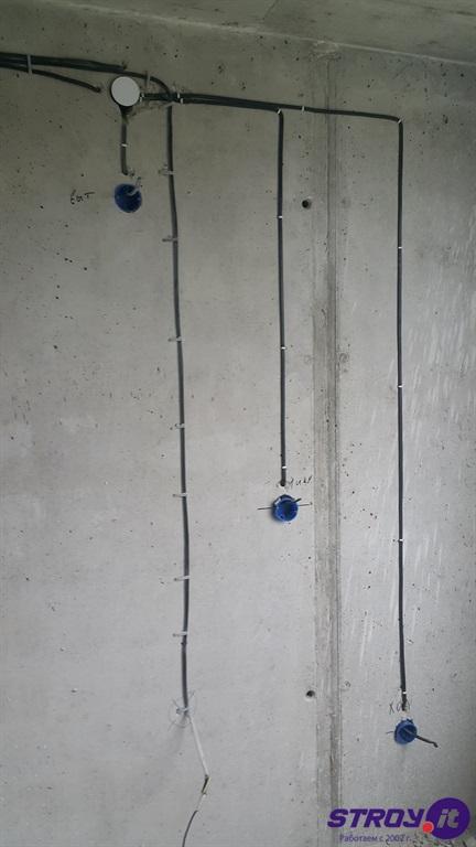 Разводка электрики под штукатурку в новостройке в Самаре