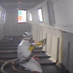 утепление трюма корабля напылением пенополиуретана