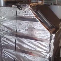 утепление котла дымохода газовых труб ппу