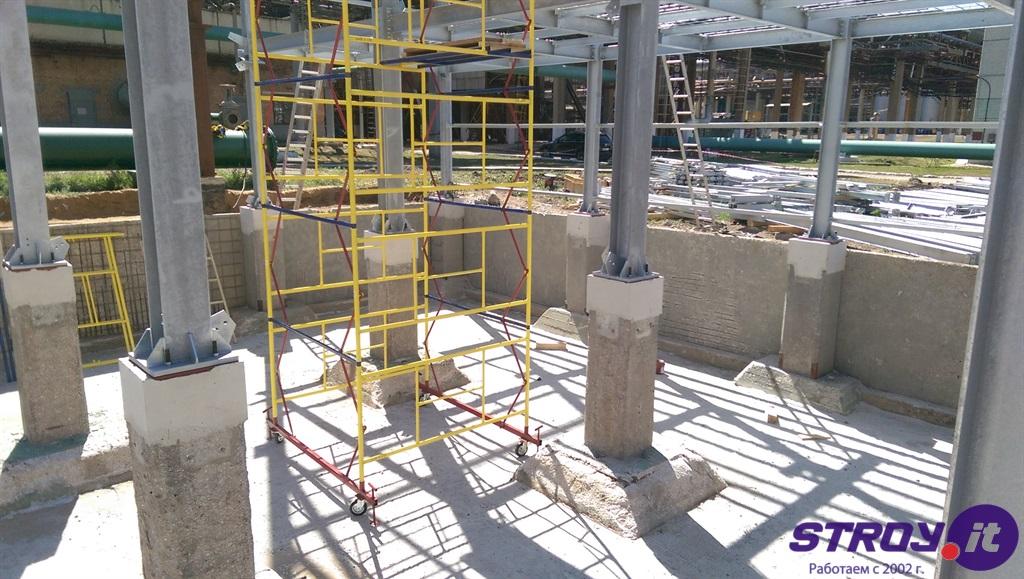 цементная штукатурка бассейна градирни