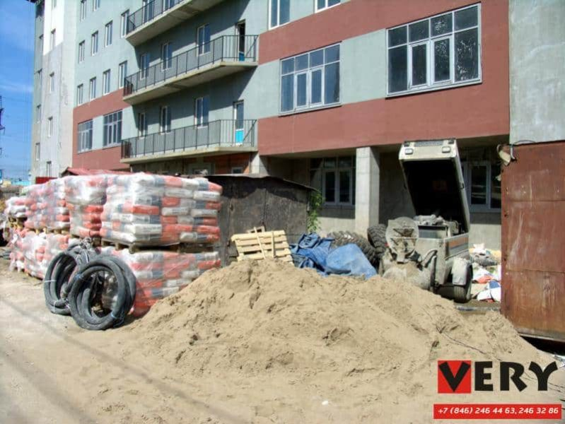 Полусухая цементно-песчаная стяжка пола