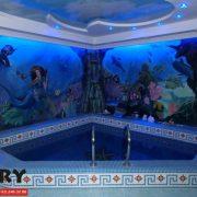 Частный бассейн. Декоративная роспись стен. Сдача – весна 2011