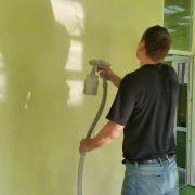 Напыление перламутрового защитного воска на текстурную покраску-36