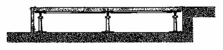 Монтаж фальшпола возле каменной ступеньки